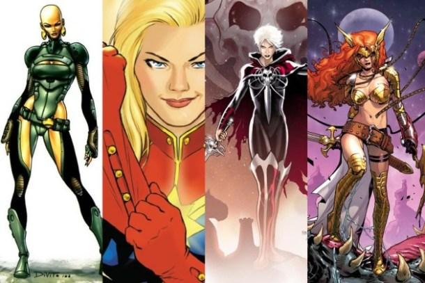 Moondragon, Carol Danvers, Phyla-Vell, Angela
