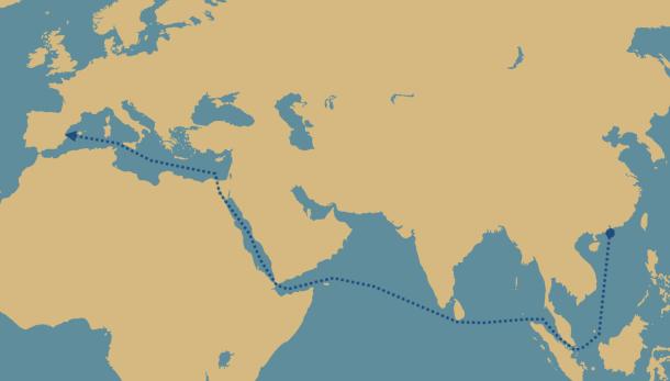 El viaje de nuestros smartphones. Un crucero de 32 días por el Mar de China, el Índico, el Mar Rojo y el Mediterráneo.