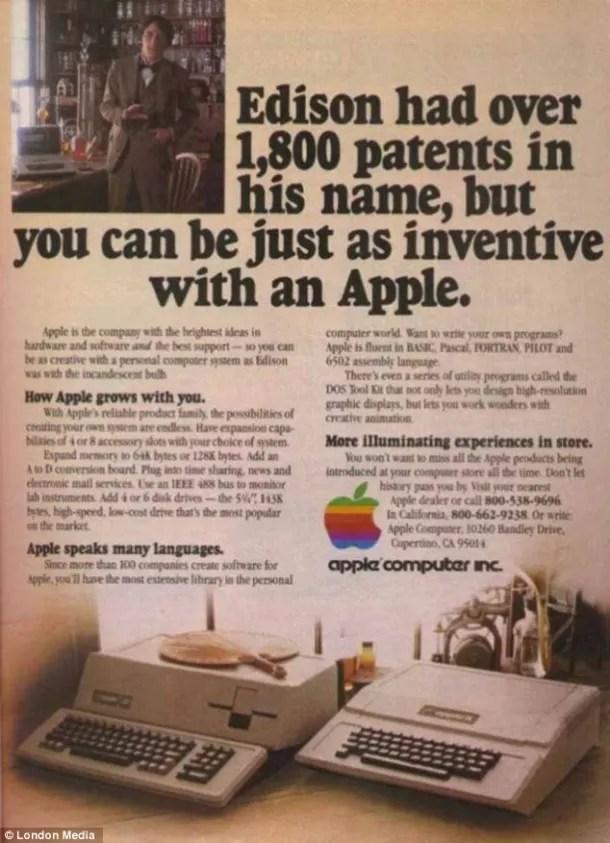 Anuncio Apple Edison