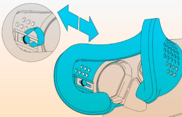 Moviendo la pantalla o pantallas se permite ajustar para miopía o hipermetropía.
