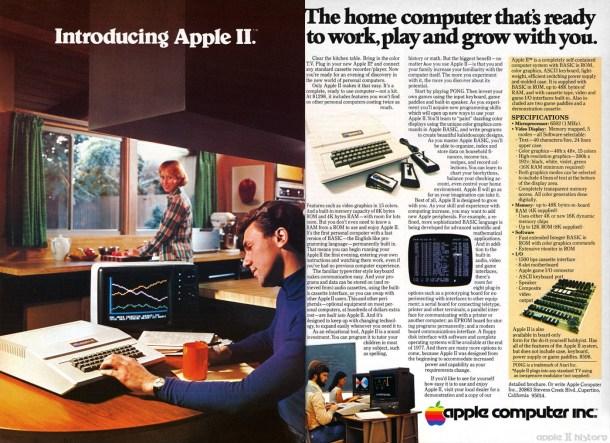 Publicidad del Apple II. En la casa, no el laboratorio.