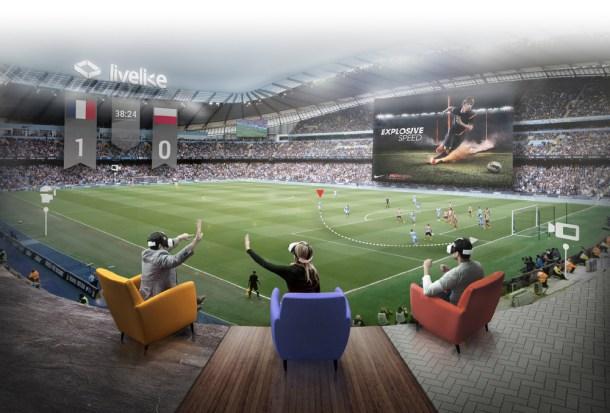 Recreación de la realidad virtual en eventos deportivos que propone Livelike