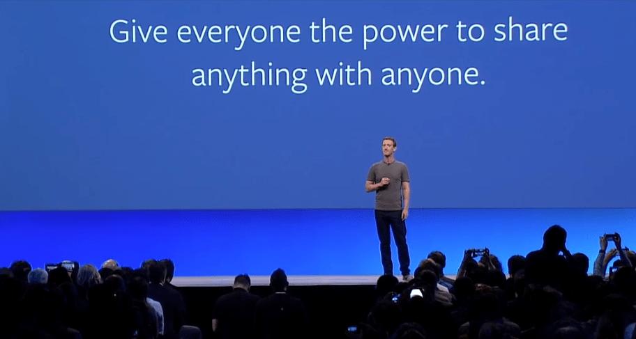 facebook compartir texto