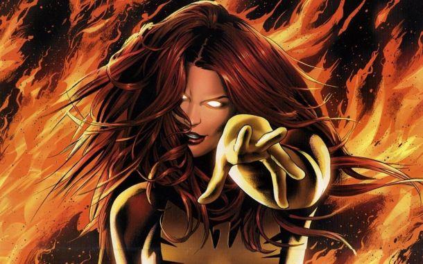 Jean Grey liándola como Dark Phoenix.