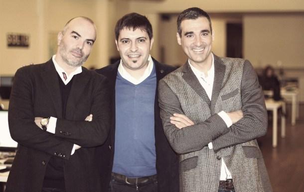 Gerard Olivé, Agustín Gómez y Miguel Vicente, fundadores de Wallapop. Fuente: Ara.cat