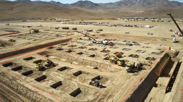 Construcción de Tesla Gigafactory / Tesla Motors