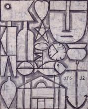 Joaquín Torres-García . Arte constructivo. 1932. Colección privada, Suiza. © Sucesión Joaquín Torres-García, Montevideo 2016 (detalle).