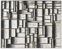 Joaquín Torres-García. Construcción en blanco y negro. 1938. The Museum of Modern Art, New York. Gift of Patricia Phelps de Cisneros in honor of David Rockefeller. © Sucesión Joaquín Torres-García, Montevideo 2016. Photo credit: Thomas Griesel (detalle).