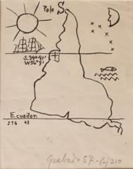 Joaquín Torres-García.América invertida. 1943. Museo Torres García, Montevideo. © Sucesión Joaquín Torres-García, Montevideo 2016 (detalle).