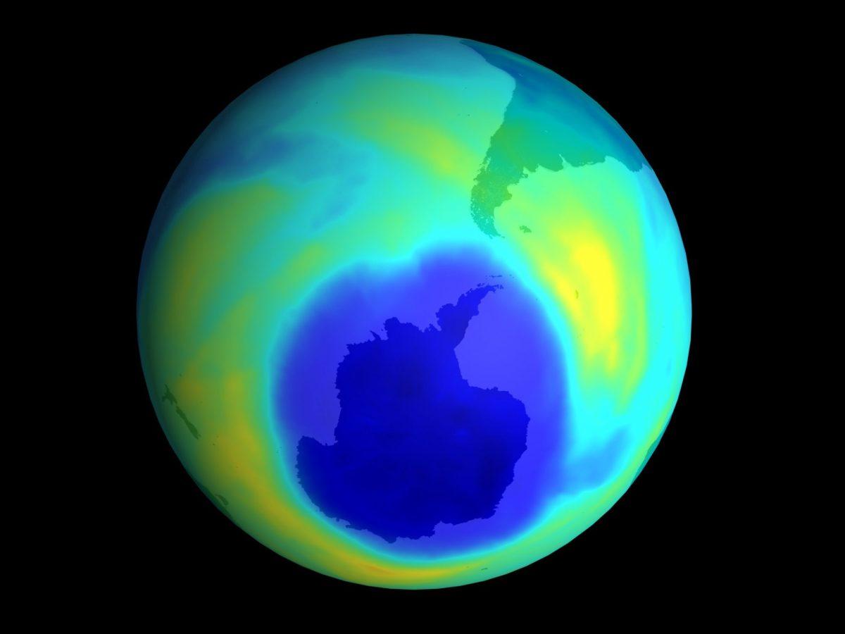 agujero de la capa de ozono