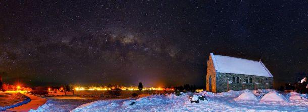 Church of the Good Shepherd under the Milk Way | Peter Hilkmann