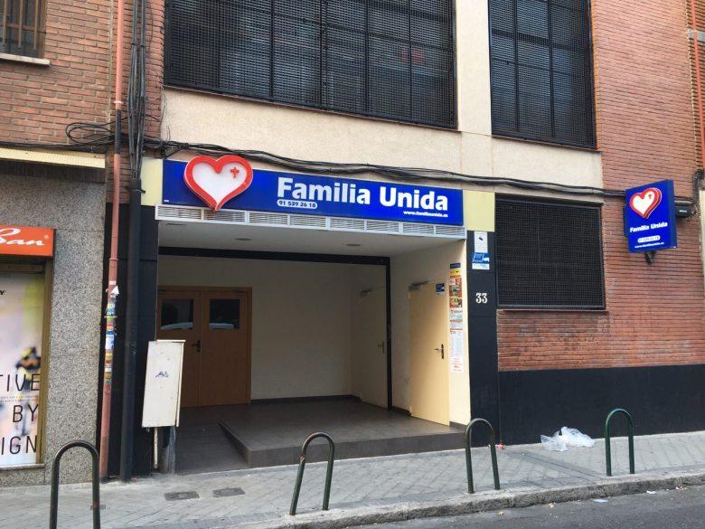 Otra sede de Familia Unida en Madrid, en el barrio de Usera.
