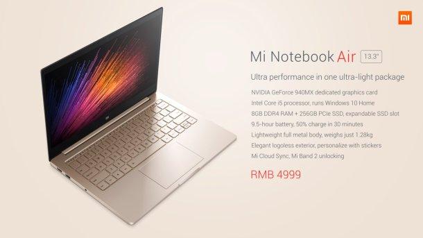 mi notebook air xiaomi 3