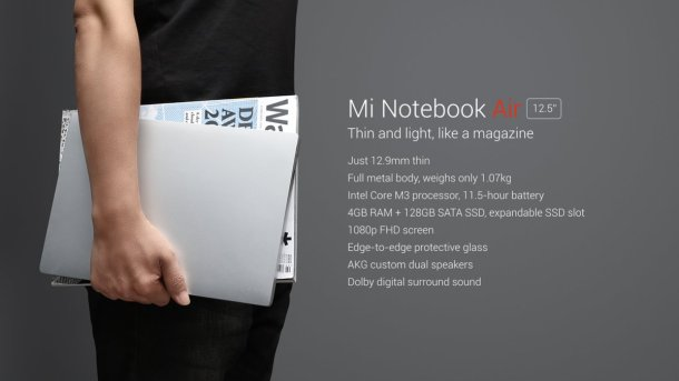 mi notebook air xiaomi 5