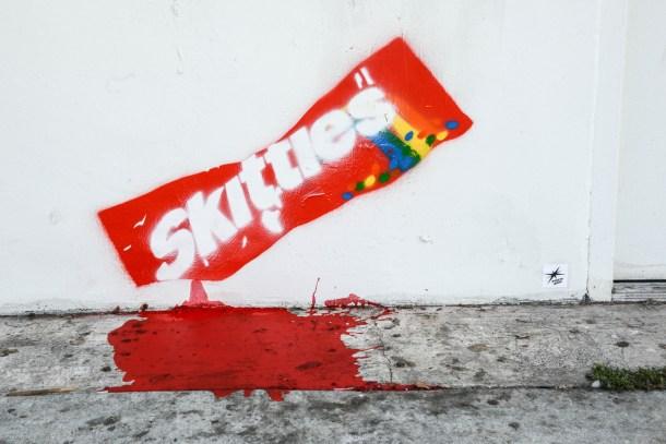Trayvon Martin inspired Street art appears in LA.
