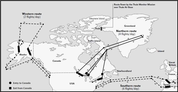 En la imagen: la peligrosa ruta que seguían los aviones del apocalipsis.