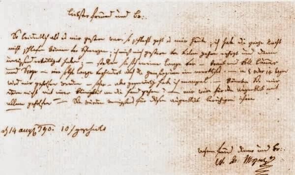 Carta a su amigo Puchberg