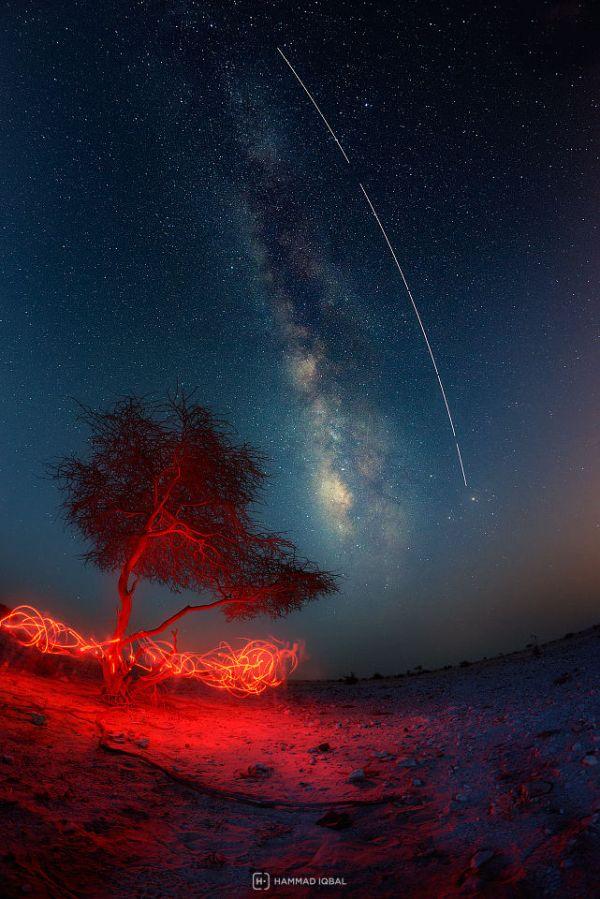Hammad Iqbal. Paso de la Estación Espacial Internacional