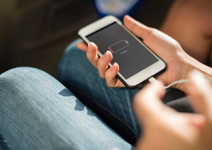 Cargando la batería del iPhone