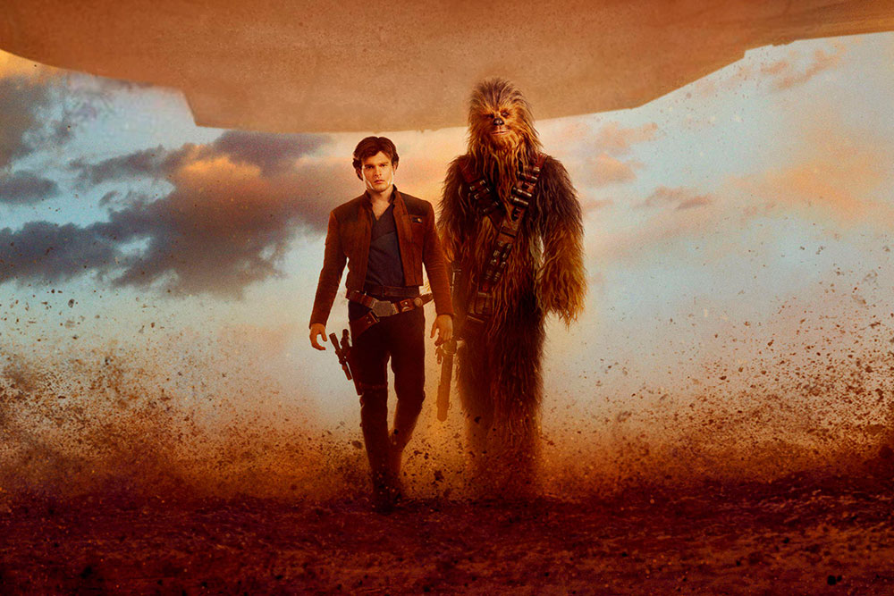 han solo una historia de star wars chewbacca