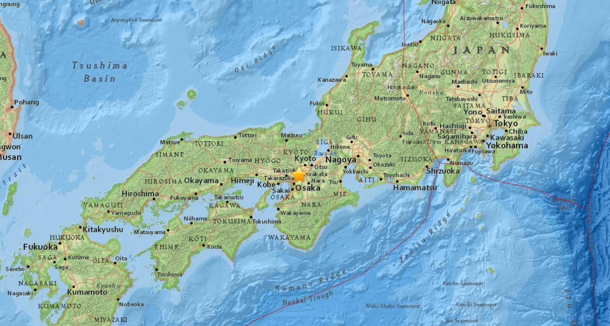 terremoto de osaka japón