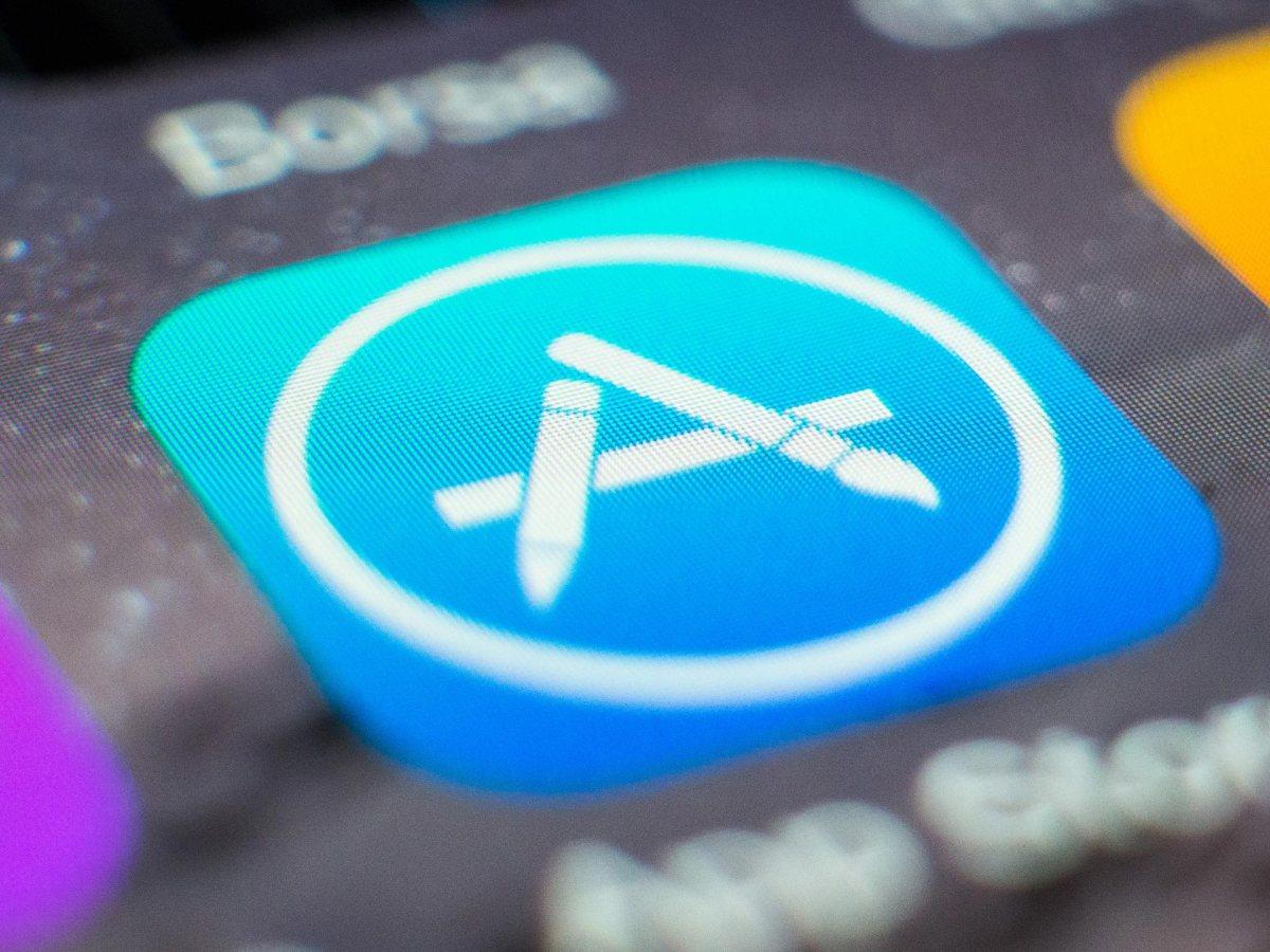 Apple App Store en un iPhone