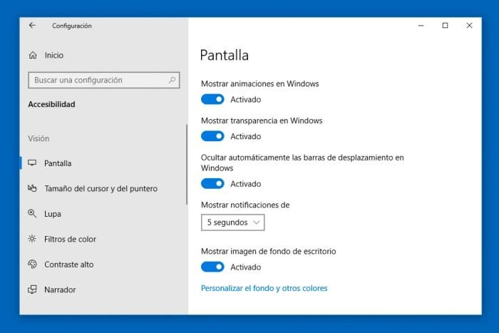evitar distracciones en Windows 10