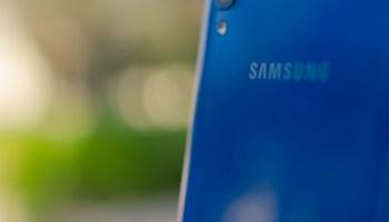 Logo de Samsung en el Galaxy A50
