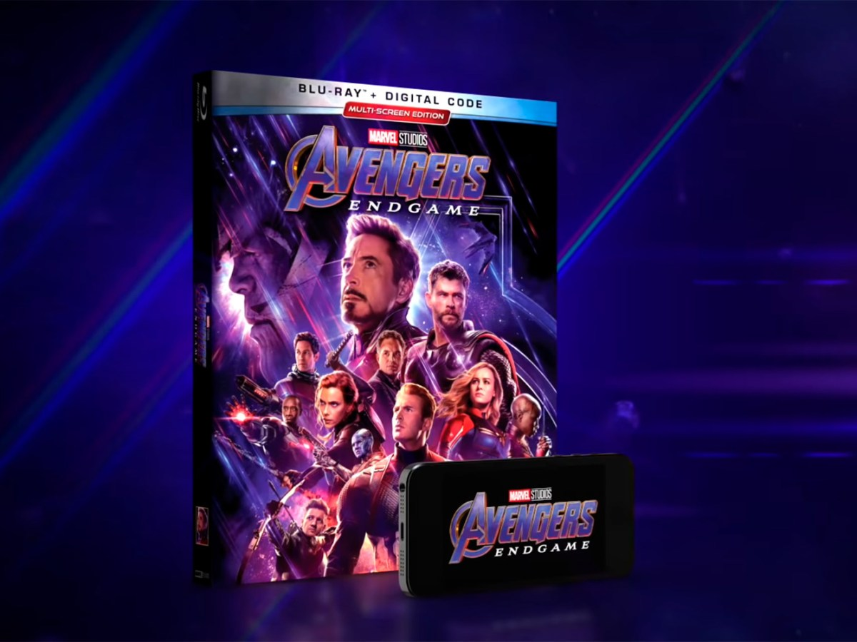 Avengers Endgame Blu-Ray y Digital