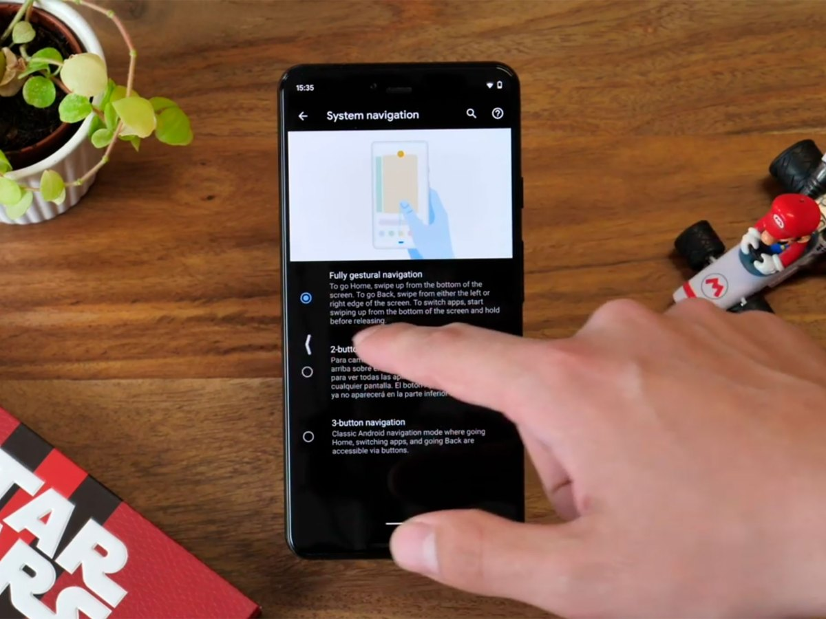 Android Q gestos