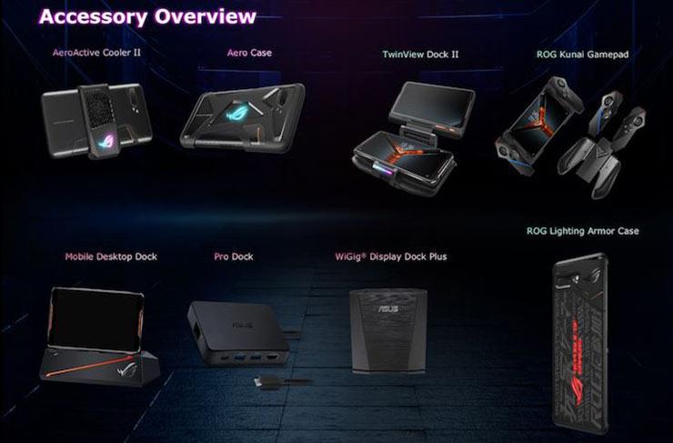Asus ROG Phone 2, accesorios