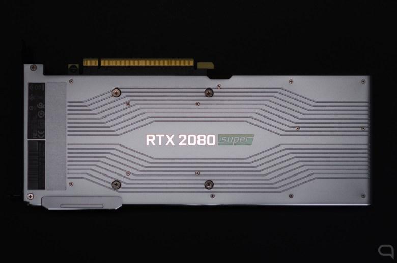 Parte trasera en la Nvidia GeForce RTX 2080 Super