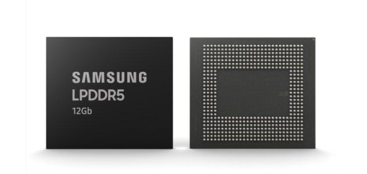 Samsung LPDDR5 12Gb chip