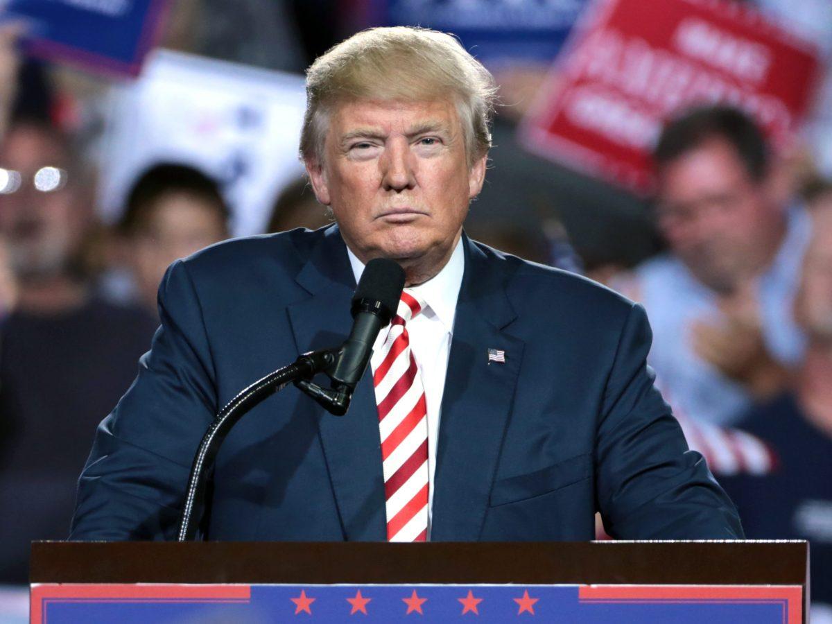 Donald Trump en un mitin