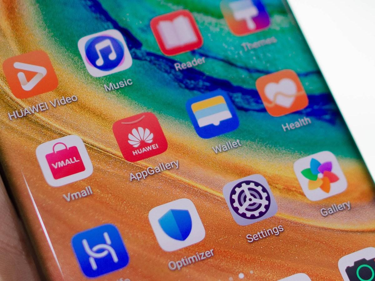 Icono de AppGallery en el Huawei Mate 30