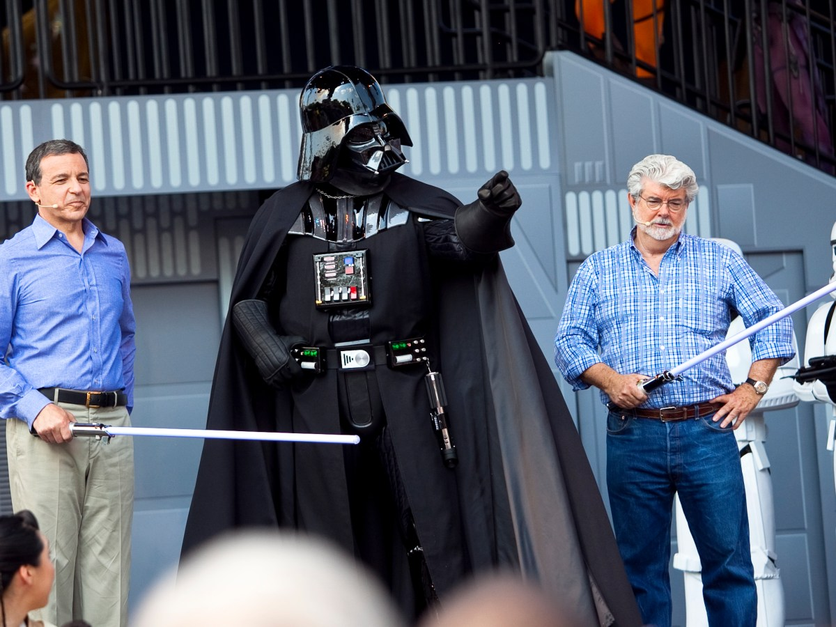 Bob Iger y George Lucas