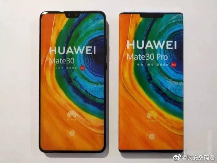 Huawei Mate 30 junto al Mate 30 Pro