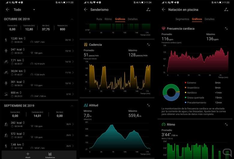Medición deportiva en el Huawei Watch GT 2