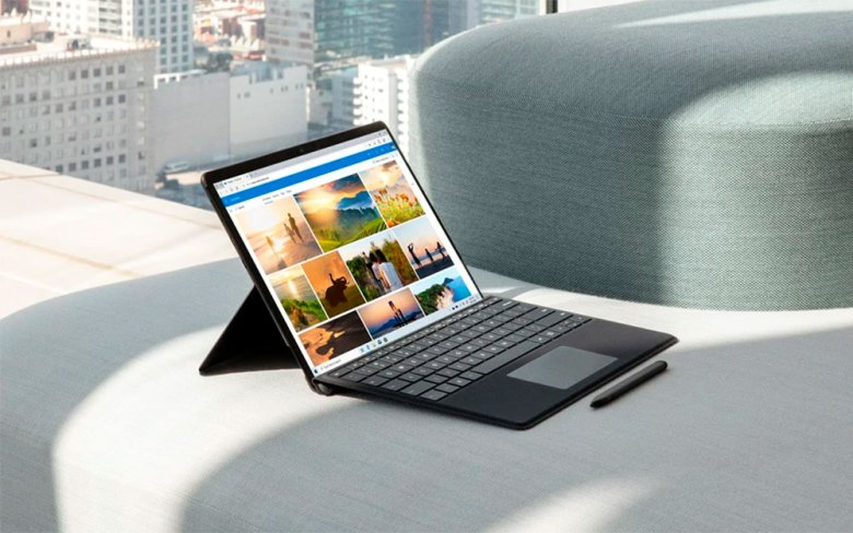 Microsoft Edge en el Surface Pro X