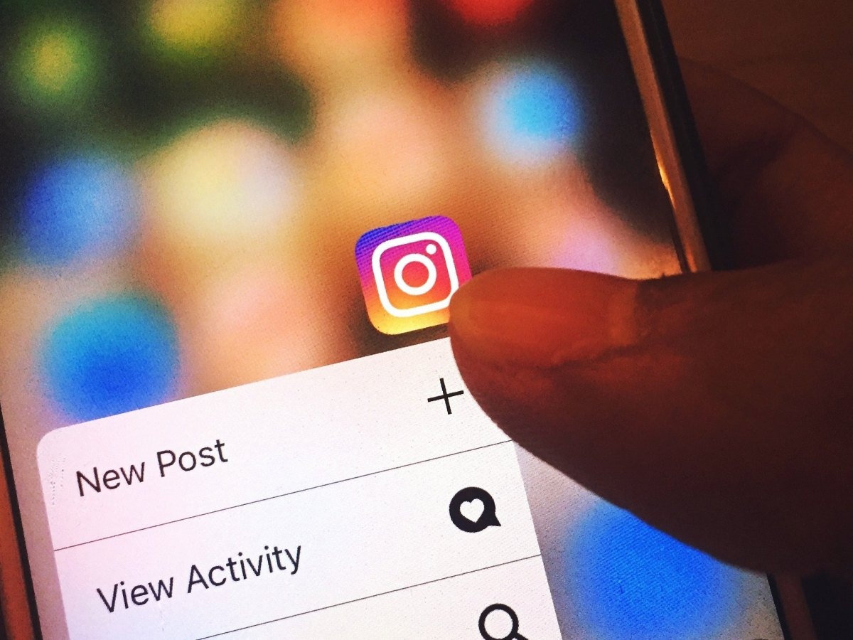 Aplicación de Instagram en un iPhone