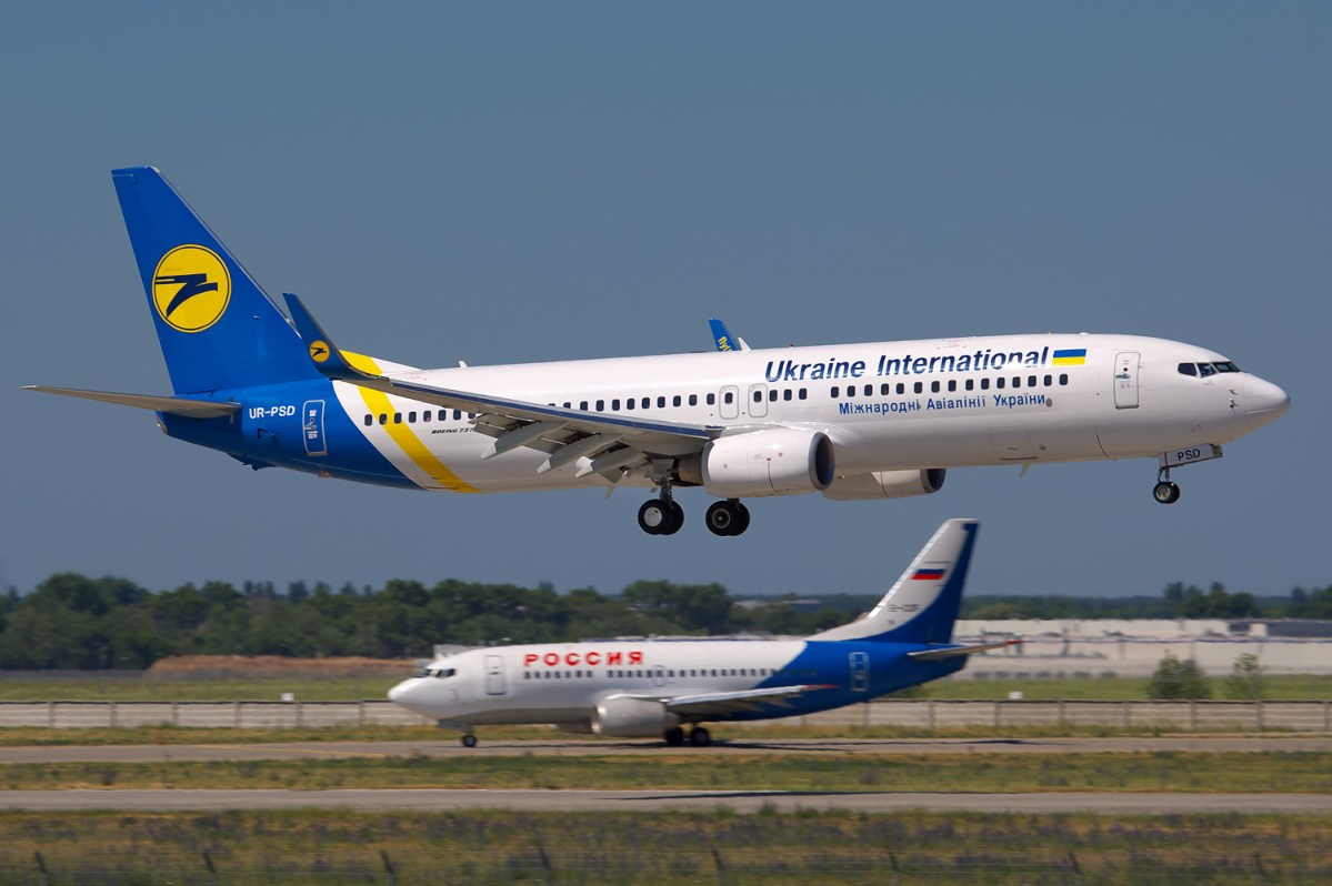 Boeing 737 Ukraine International Airlines