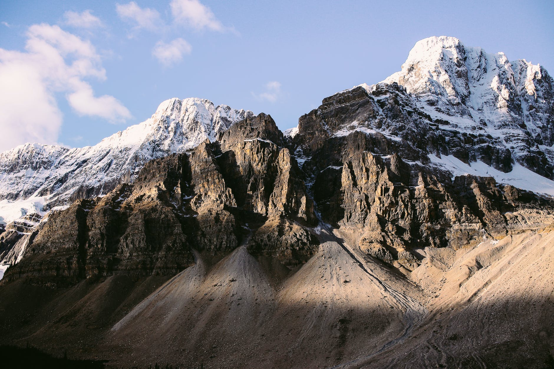 snowy mountain peaks in nature