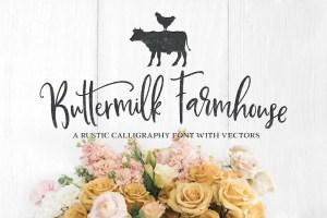 Buttermilk Farmhouse Typeface