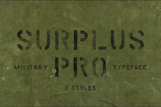 military fonts