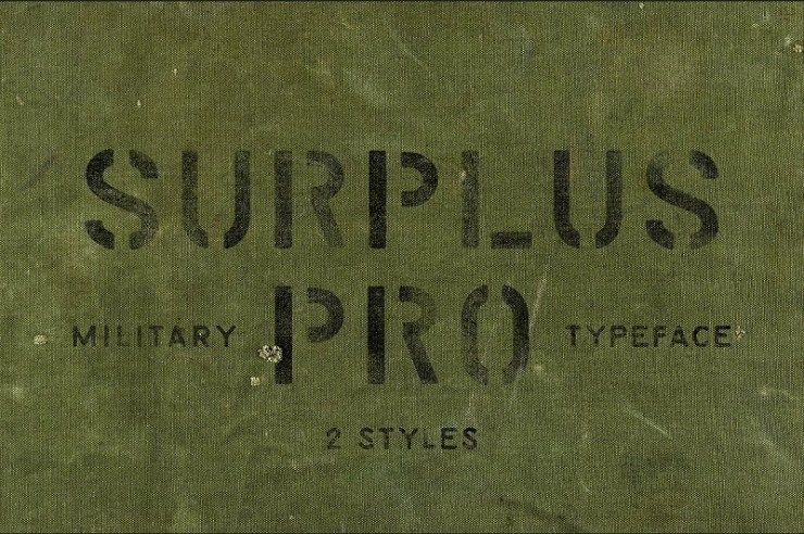 20 Amazing Fonts Inspired by the Military of Past and
