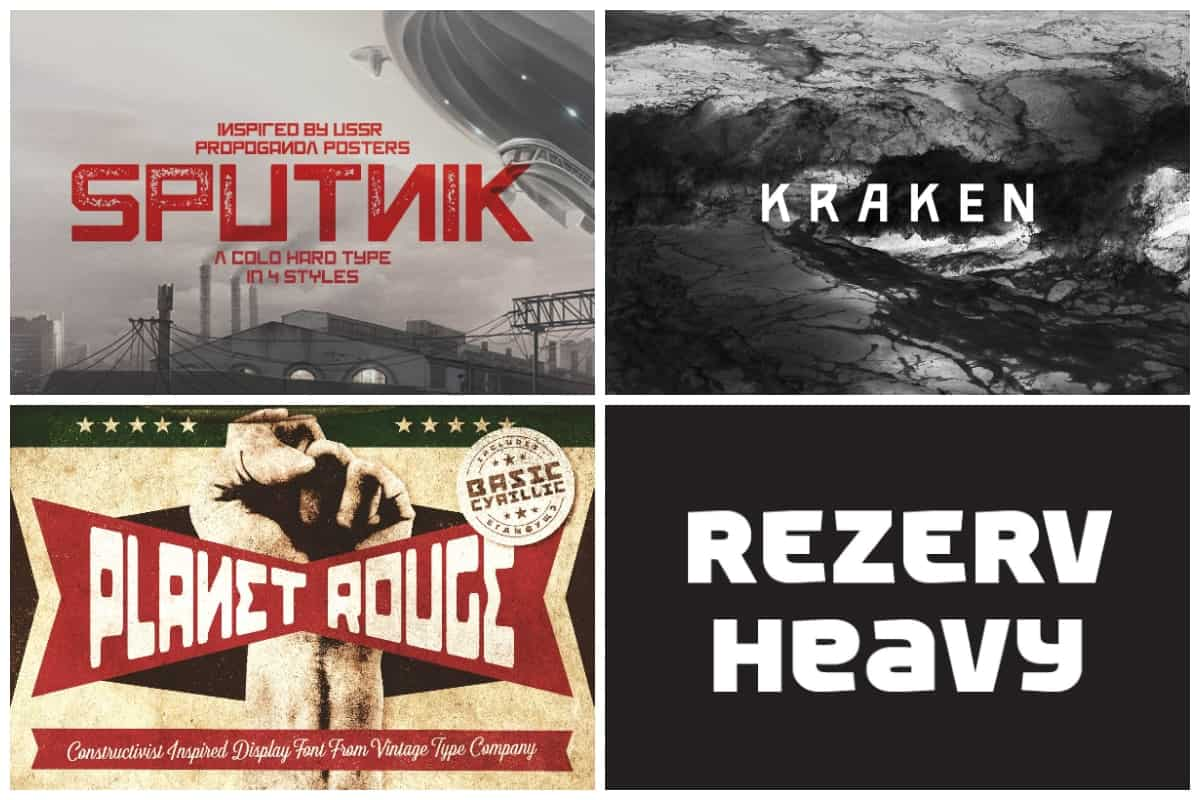 Premium Russian Styled Fonts
