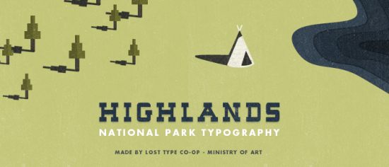 Free Highlands Typeface