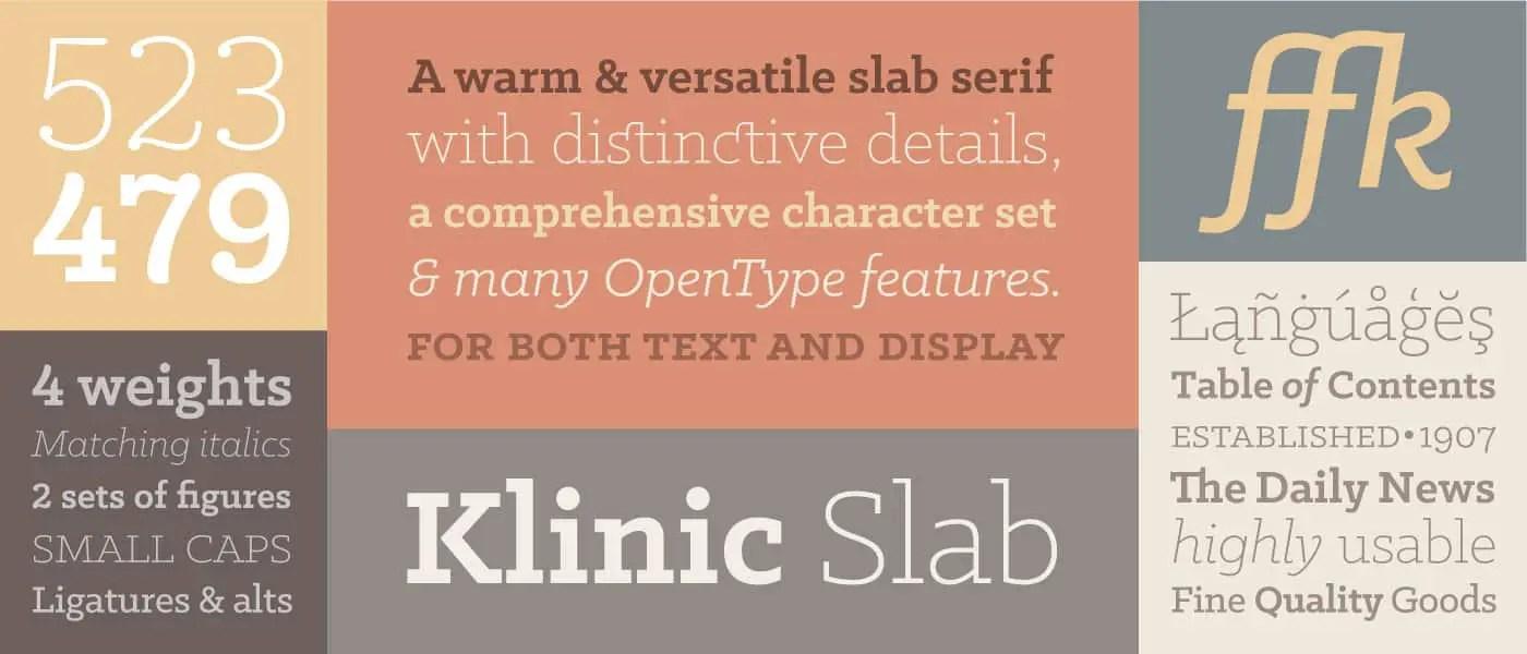 klinic Slab Typeface