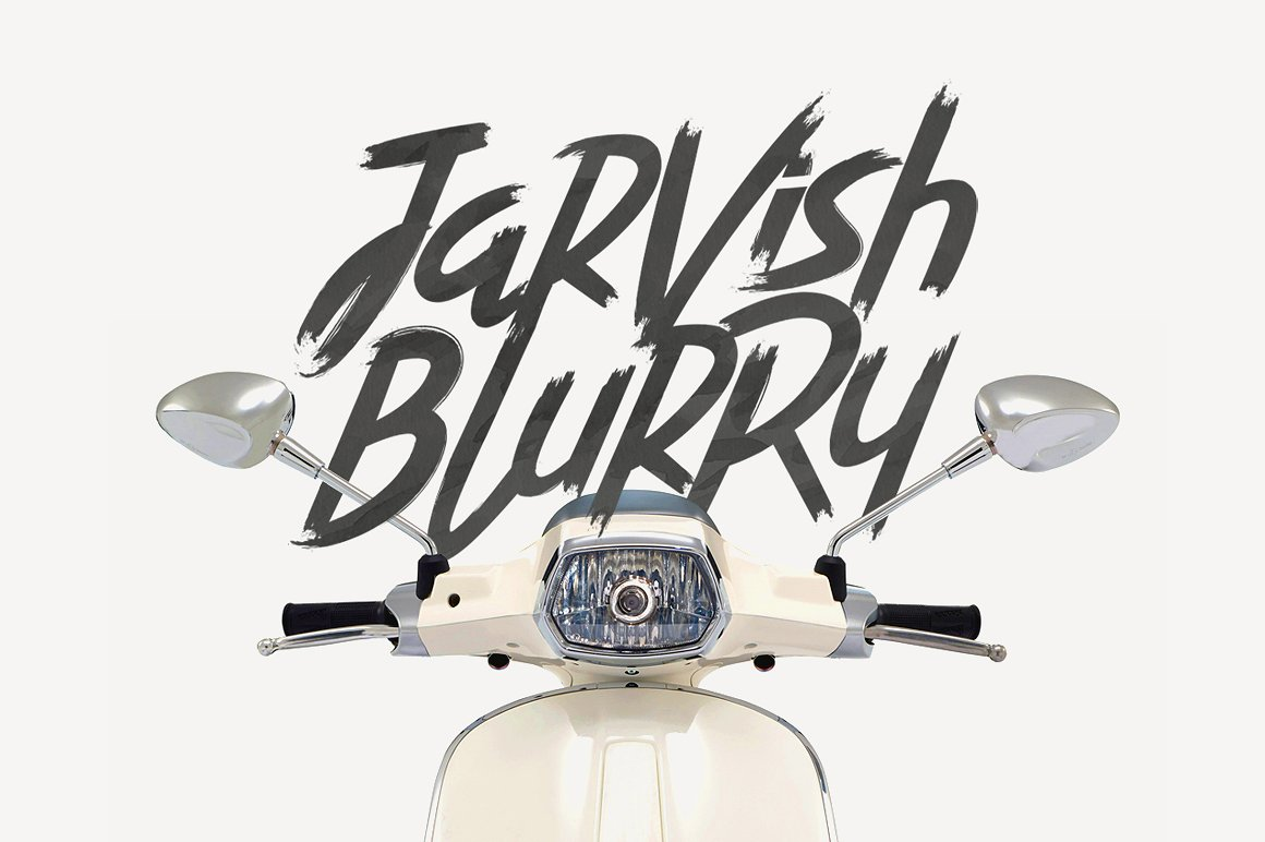 Jarvish Blurry Brush Font