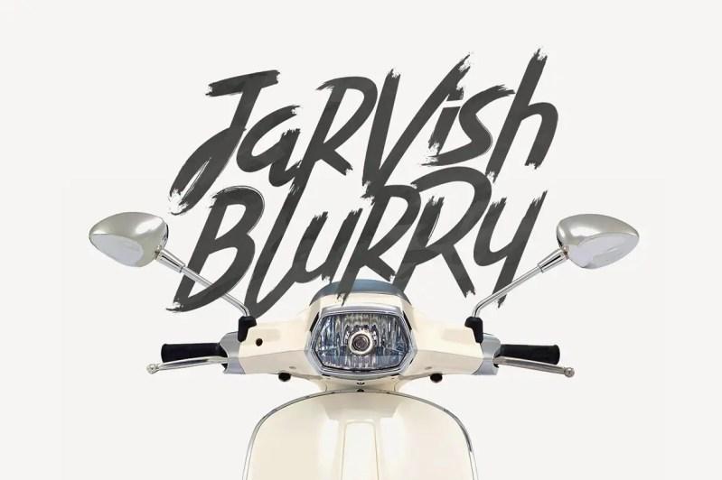 Jarvish Blurry Brush Font